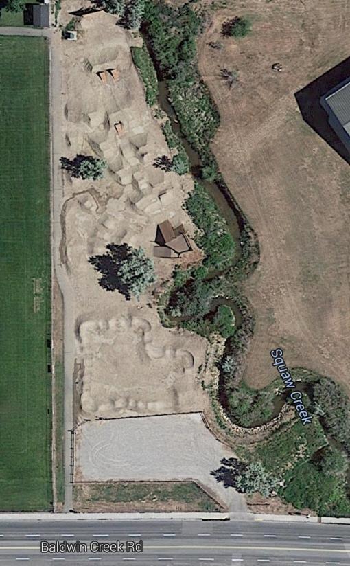 Lander Bike Park Aerial View